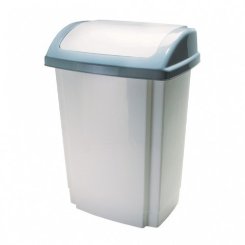 SWING Пластмассовaя корзина для мусора, 50л с крышкой