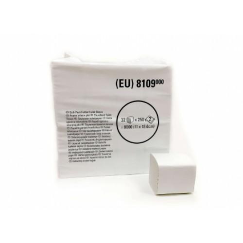 Kimberly Clark Листовая туалетная бумага Scottex, переработанная целлюлоза, белая