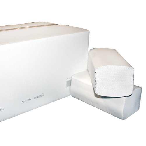 Листовые полотенца для рук, целлюлоза, белые (РБ)