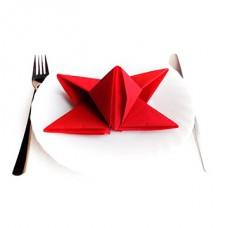 Салфетки для стола: белый, синий, красный