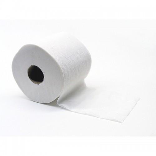 Рулонная туалетная бумага белая