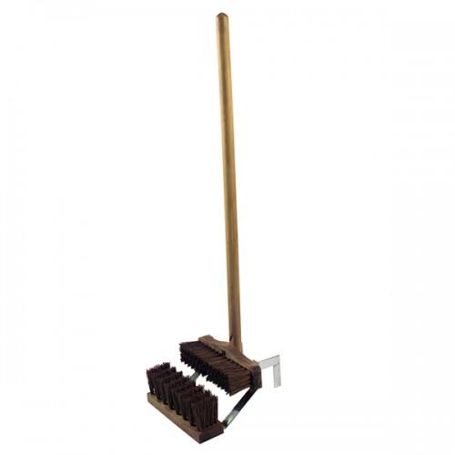 Жесткая щетка 261mm для чистки сапог с ручкой