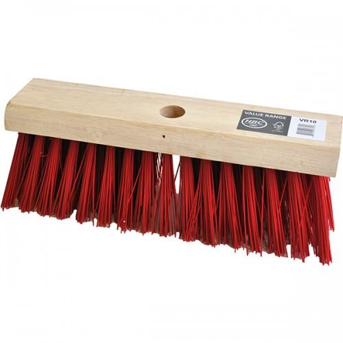 330mm щетка для улицы красное наполнение PVC - жесткая